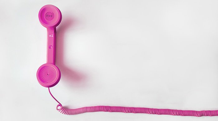 A pink phone that you could use for phone sex