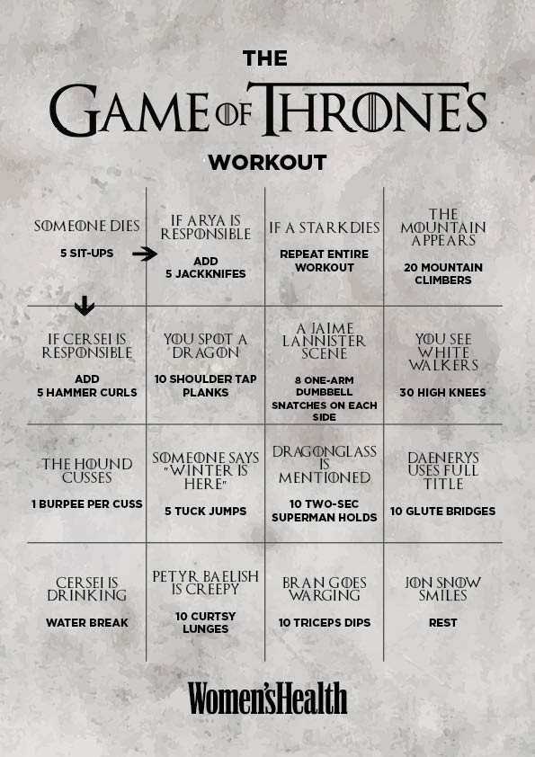Try This Game Of Thrones Workout Game