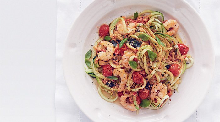 prawn courgetti detox lunches