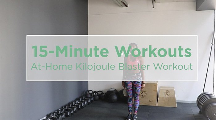 Michelle October doing a kilojoules blasting workout