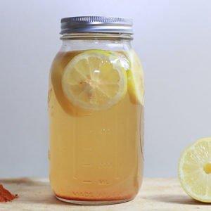 kombucha in a jar
