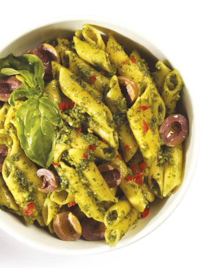 vegan pesto pasta dishes