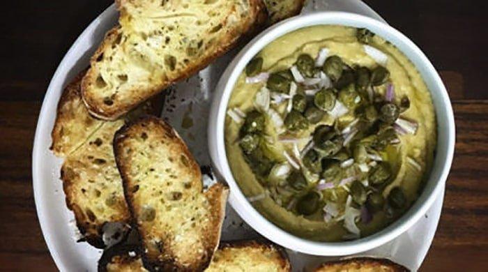 fava bean dip with bread