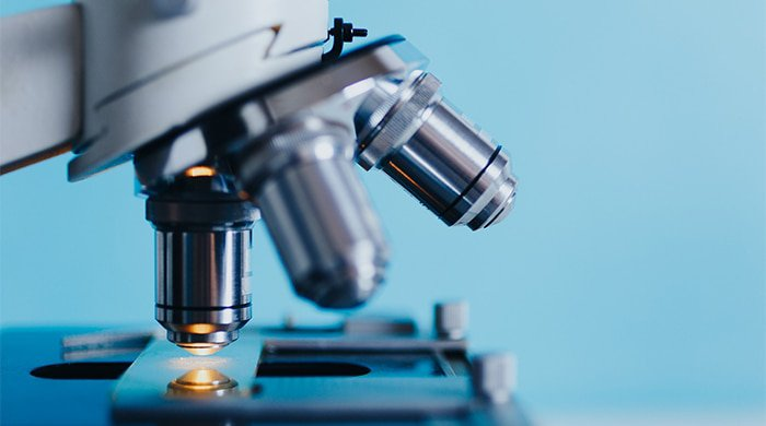 microscope used to run biopsies for cancer