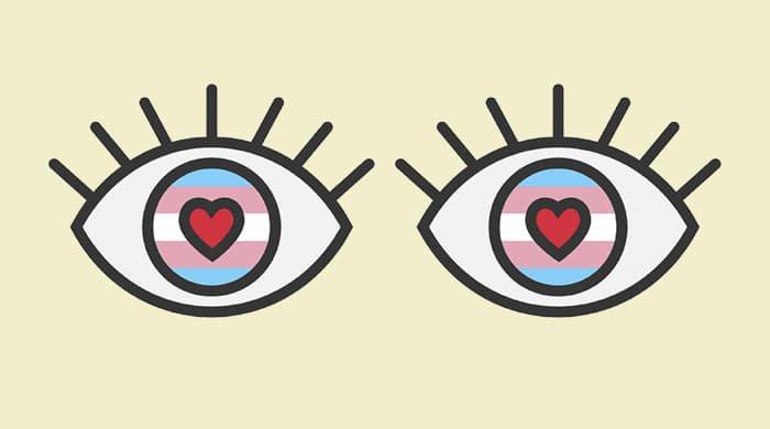 eye emojis to represent an eye tattoo gone wrong