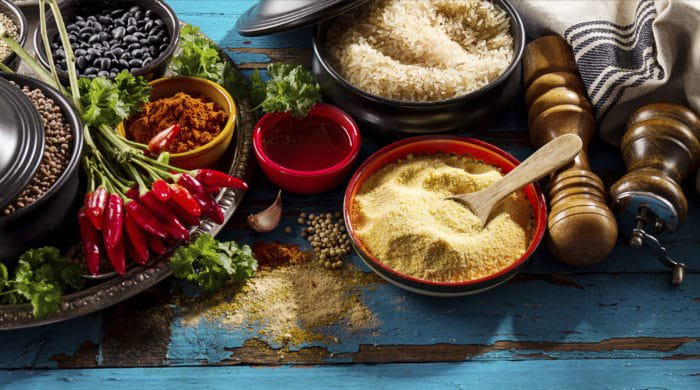 Ingredients for an Indian curry