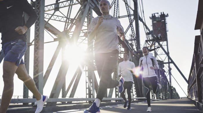 People running marathons in Nike's new sneaker