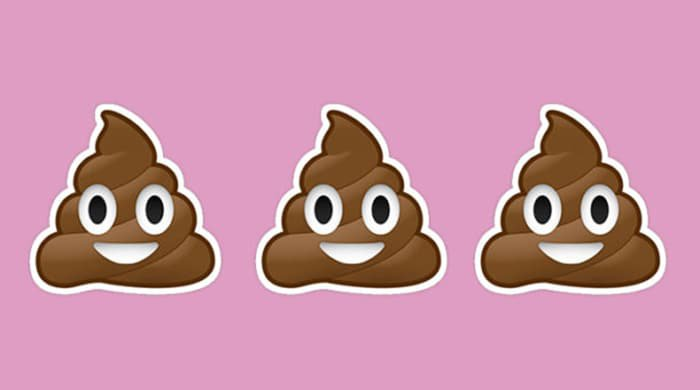 Poop emojis to represent laxatives as a relief for constipation