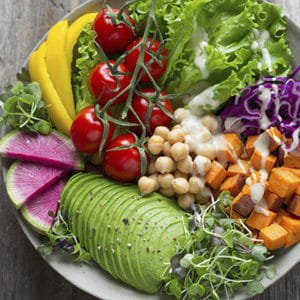 A plate of food you can eat on the zone diet