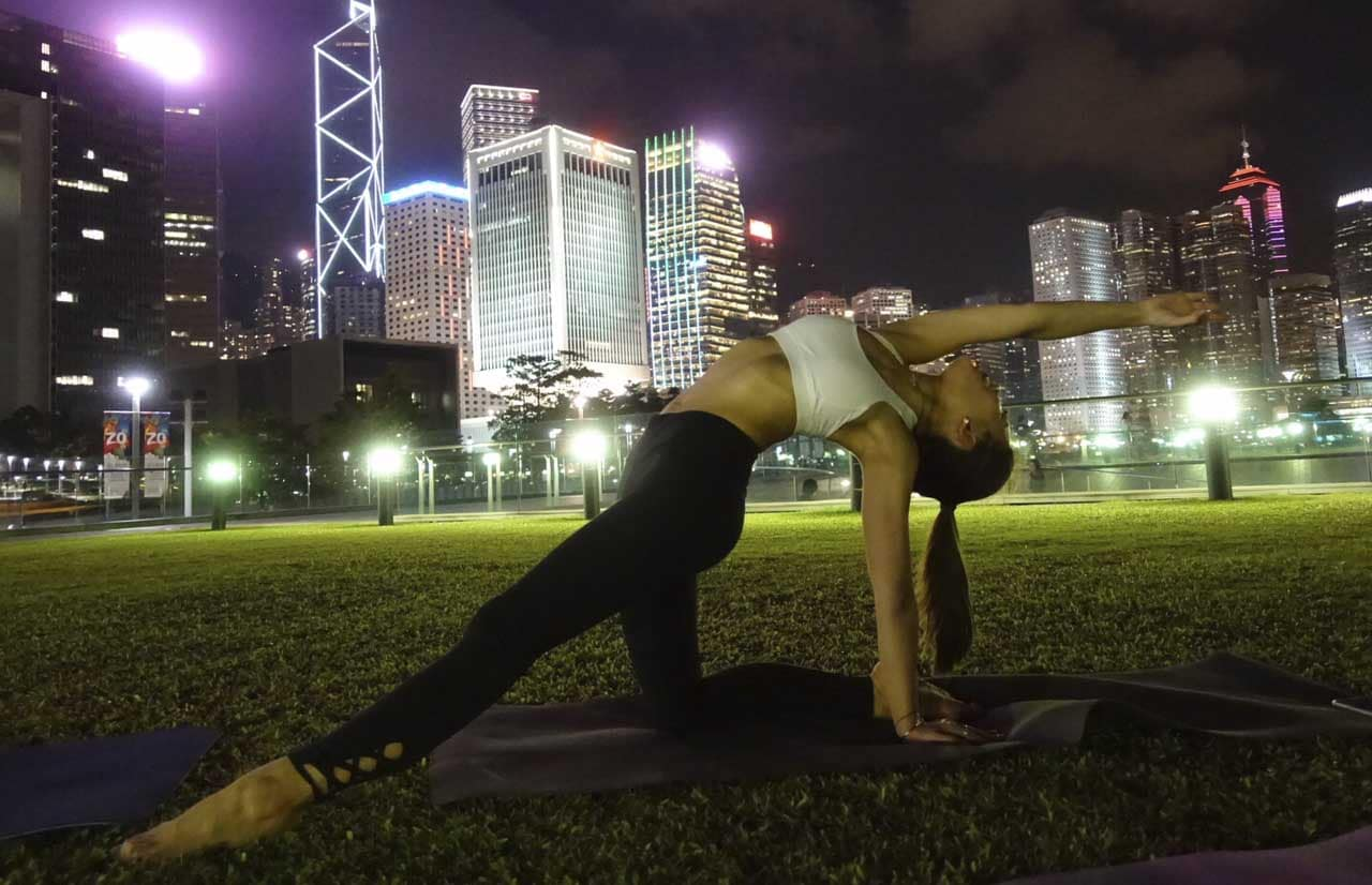 Do yoga with a twist in exotic locations.