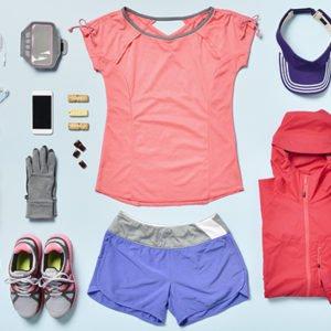 fitness presents flatlay
