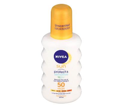 Nivea Sun Spray Protect And Sensitive SPF 50