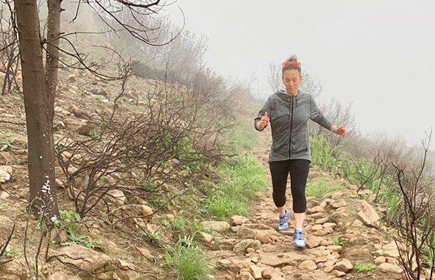 running in the Hi-Tec trail shoe