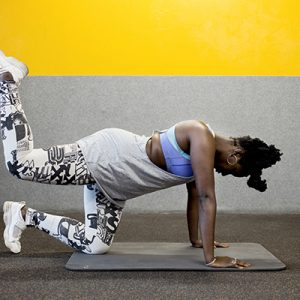 a woman doing hip exercises
